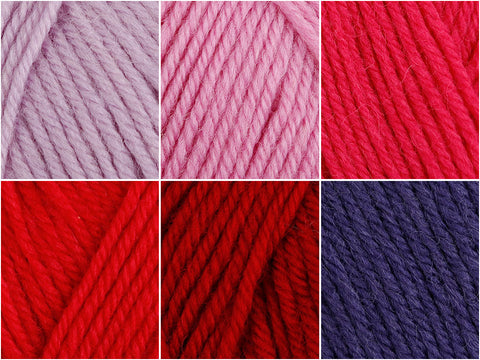Wild Berries Colour Pack in Cygnet Yarns Pure Wool Superwash DK