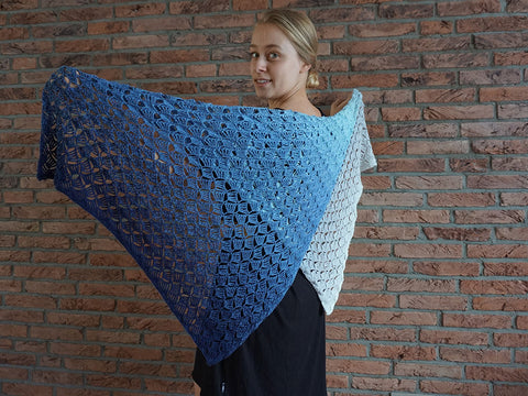 Breezeblocks Shawl Crochet Kit and Pattern in Scheepjes Yarn