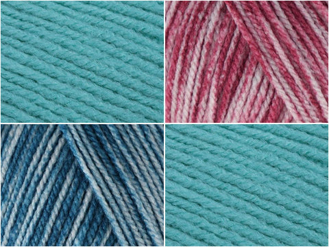 Crochet Now Daring Dragonfly Cushion Colour Pack in Scheepjes Colour Crafter