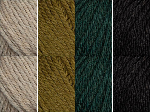 Dark Forest Colour Pack in Patons Alpaca Merino Twist