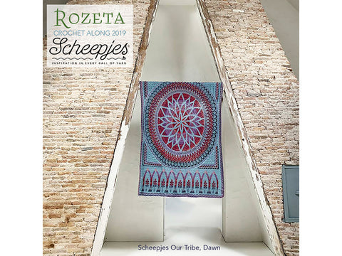 Scheepjes CAL 2019 Rozeta by Lilla Bjorn Crochet in Scheepjes Our Tribe