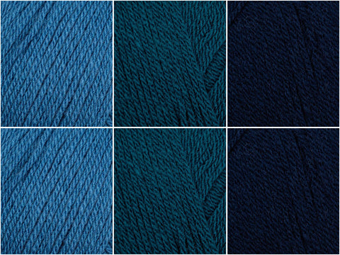 Deep Blue Sea Colour Pack in Hayfield Bonus Aran