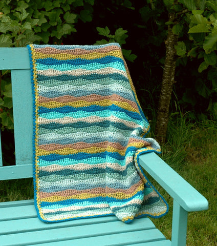 Gentle Waves Blanket by Carmen Heffernan (Small pack) - Yarn and Pattern