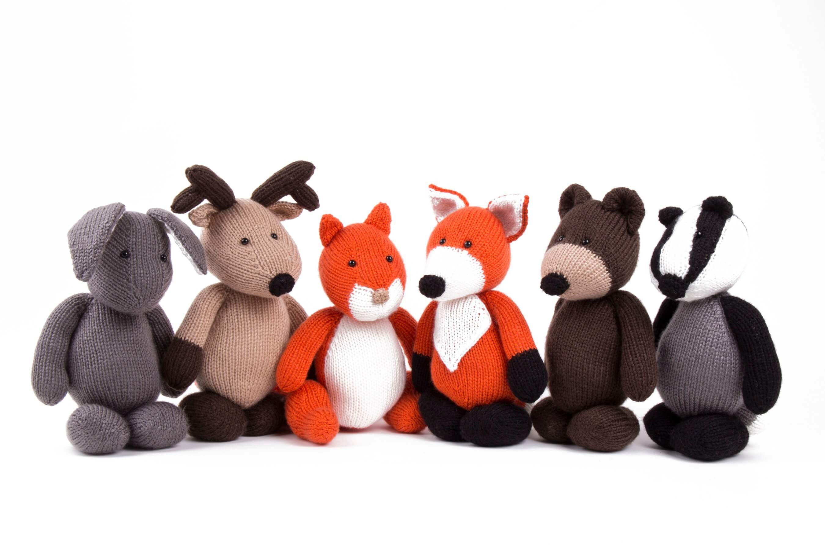 Ravelry: Woodland Amigurumi Animal Trio pattern by Gina Rahman | 1800x2700