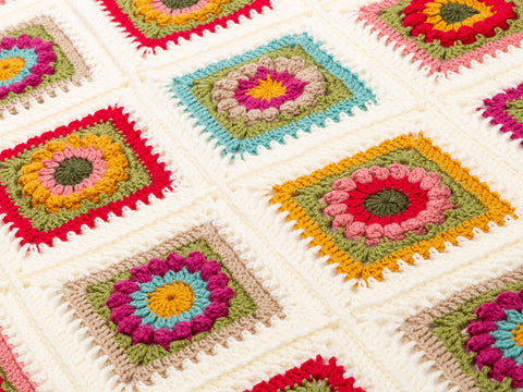 Flower Square Blanket by Carmen Heffernan in Deramores Studio DK