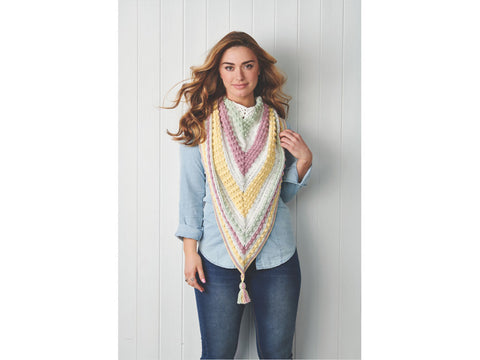 Simply Crochet Ice Cream Bobble Scarf Colour Yarn Pack in Rico Design Ricorumi DK Cotton Yarn