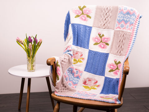 Blossom and Bloom Blanket Knit Along