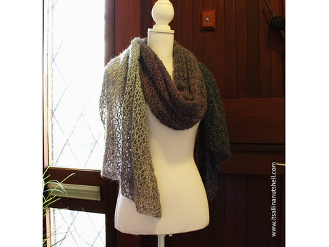 Diamond Shawl by It's All in a Nutshell in Scheepjes Whirl & Mohair Rhythm