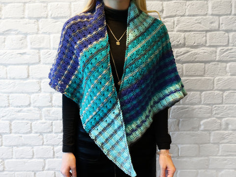 Domino Shawl Knitting Kit and Pattern in West Yorkshire Spinners Yarn