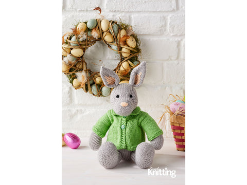 Simply Knitting Rabbit Toy by Amanda Berry in Patons Fairytale Fab Baby Smiles 4 Ply