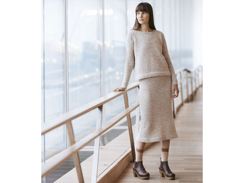 Eeva Knitted Skirt in Novita Nalle Knitting Kit and Pattern