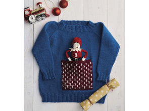 Elf in Chimney Sweater by Jane Burns in Deramores Studio DK