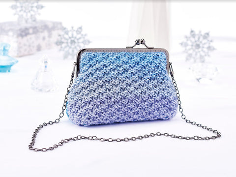 Let's Knit Evening Bag in King Cole Shine DK