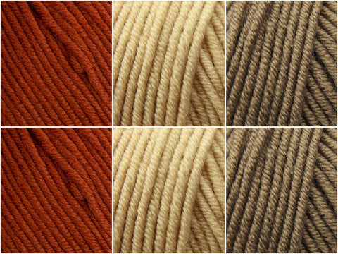 Cinnamon Swirls Colour Pack in Sublime Extra Fine Merino Worsted