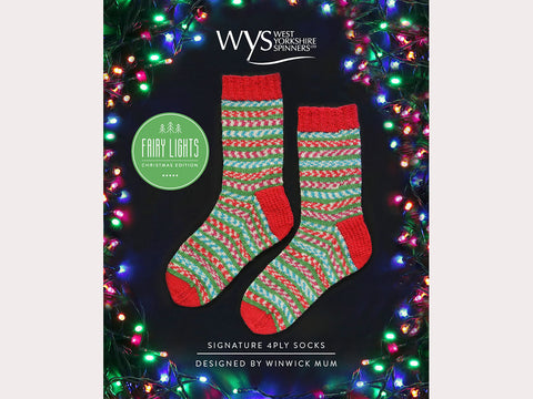 Fairy Lights Socks by Warwick Mum in West Yorkshire Spinners Signature 4 Ply