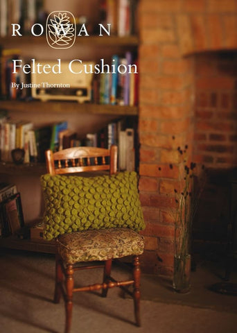 Felted Cushion by Justine Thornton-Deramores