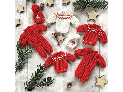 Christmas Decorations by Anna Nikipirowicz in Sirdar Happy Cotton DK