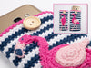 Flamingo Cosies Crochet Kit and Pattern in Rico Design Yarn