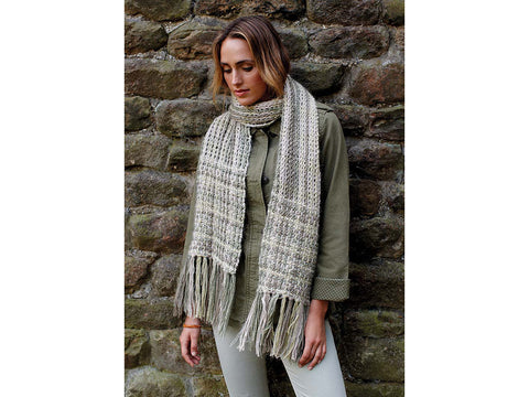 Lisa Richardson Florence Scarf Crochet-A-Long in Rowan Kidsilk Haze and Cotton Cashmere - October 2018
