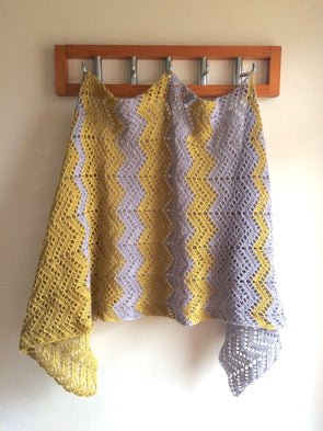 Mango Sorbet Stole Crochet Kit and Pattern in Scheepjes Yarn
