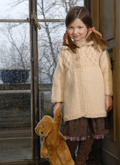 Girl's Smocked Coat in Blue Sky Bulky (GC)