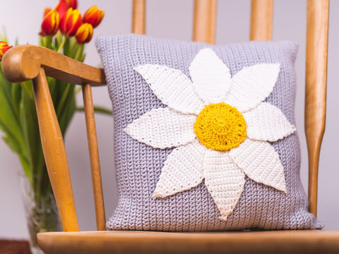 Daisy Cushion Crochet Kit and Pattern