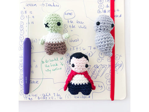 Gothic Gang Crochet Kit and Pattern in Rico Design Yarn