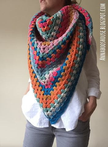 Granny Wrap Crochet Kit and Pattern in Stylecraft Yarn