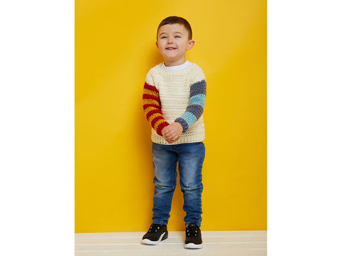 Crochet Now Colour Block Kids Jumper Yarn Colour Pack