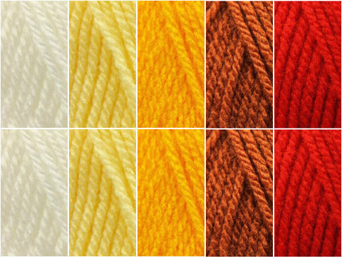 Fire Colour Pack in Hayfield Bonus DK