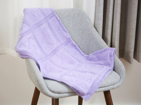 Heart Motif Blanket Knitting Kit and Pattern