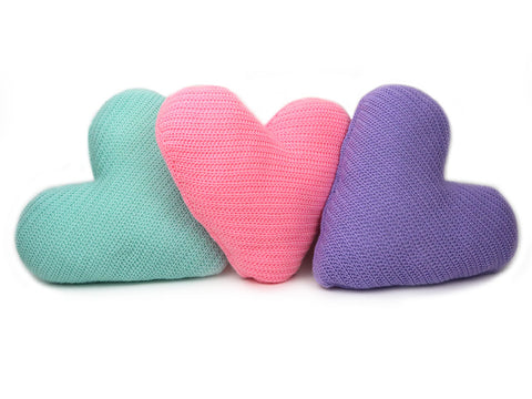 Love Heart Cushions Crochet Kit and Pattern in Deramores Yarn