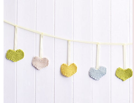 Let's Knit Hearts Bunting in Rico Design Creative Cotton Aran