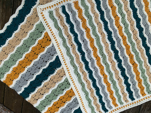 Ophelia Ripple Blanket Two Ways Crochet Kit and Pattern in Stylecraft Yarn