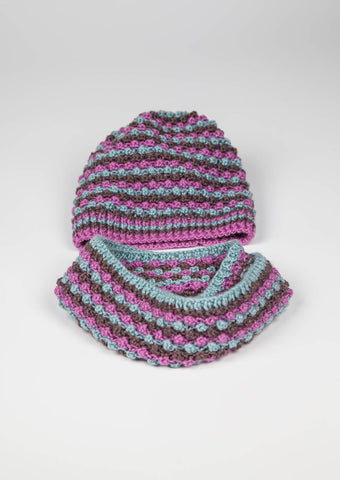 Erika Knight Bobbly Hat and Snood