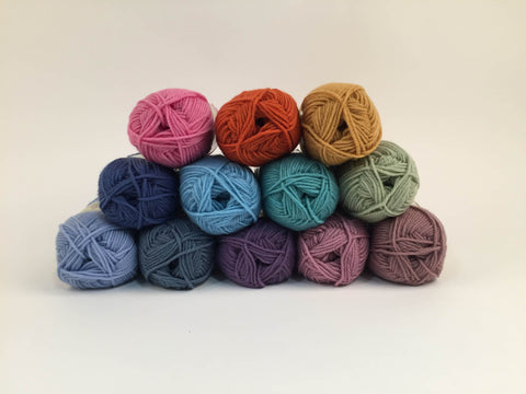 King Cole Merino Blend DK Muted Rainbow Colour Pack