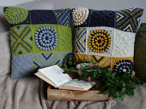 Cushion Crochet Along Colour Pack by Anna Nikipirowicz in West Yorkshire Spinners ColourLab