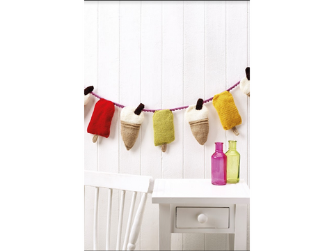Let's Knit Ice Cream & Lolly Bunting in Deramores Studio DK