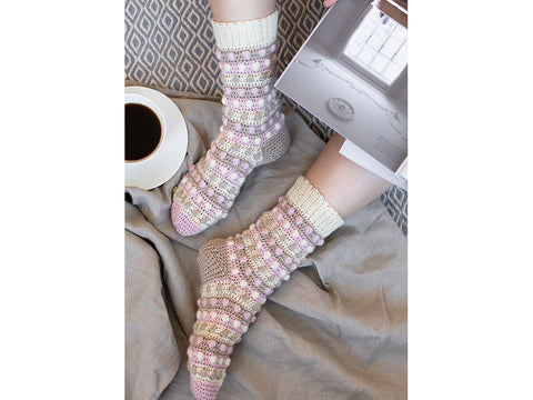 Ice Cream Summer Socks Crochet Kit and Pattern in Novita Yarn
