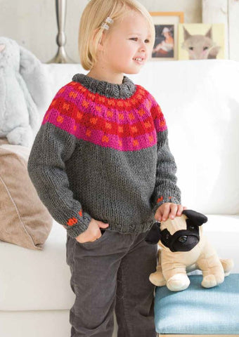 Icelandic Jumper in Deramores Studio Chunky by Lars Rains
