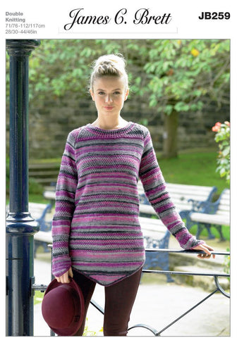 Ladies Sweater in James C. Brett Woodlander DK (JB259)