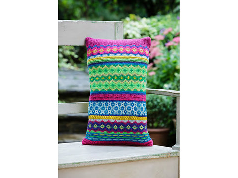 Fair Isle Cushion by Jane Crowfoot in Stylecraft Special DK