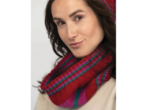 Grazia Cowl in Jody Long CIAO (16534) Knitting Kit and Pattern