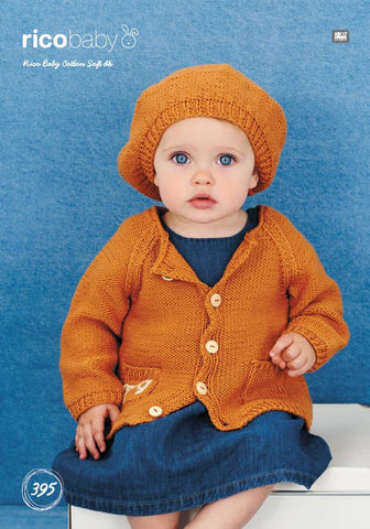 Jacket and Beret in Rico Baby Cotton Soft DK - 395 - Digital Version