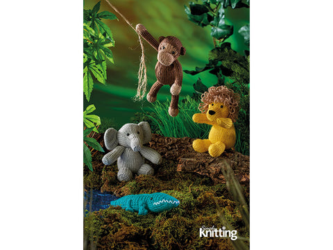 Simply Knitting Wild Animal Toys by Amanda Berry in Deramores Studio DK