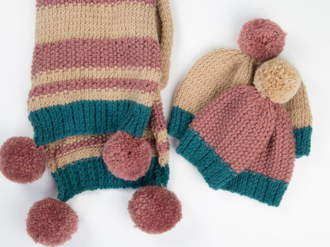 Hat and Scarf Set by Katie Barber in Stylecraft Life Chunky