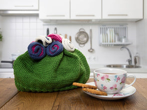 Garden Tea Cosy by Katie Barber in Deramores Studio DK