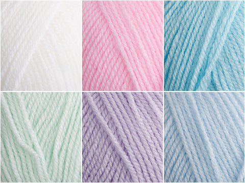 Icy Pastels Colour Pack in Cygnet Yarns Kiddies Supersoft DK