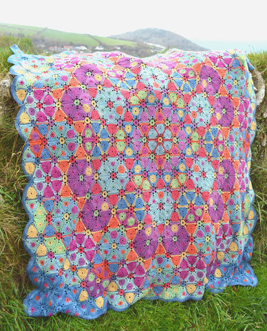 Kaleidoscope Blanket Pattern by Amanda Perkins - Digital Version