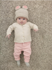 Girl's Baby Bear Hat in Lion Brand Vanna's Choice (60143)